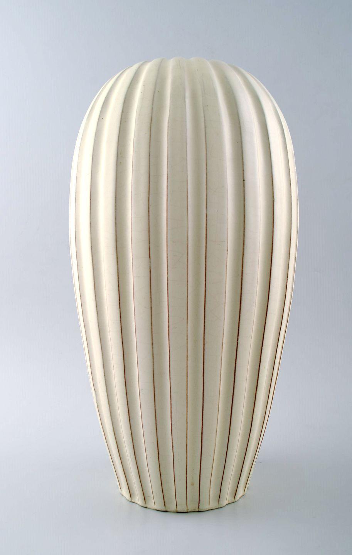 keramik gulvvase .Antikvitet.  Anna Lisa Thomson for Upsala Ekeby keramik  keramik gulvvase